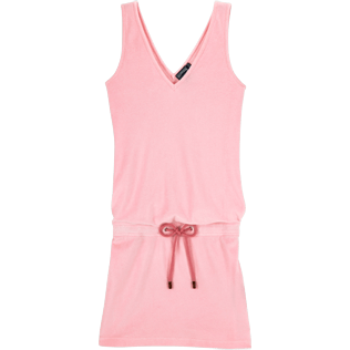 Women Dresses Solid - Solid Terry Tank dress, Peony front