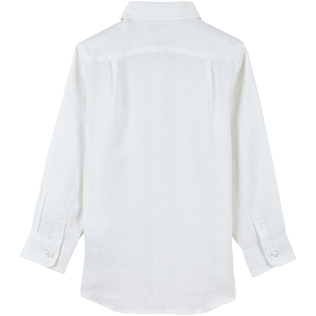 Boys Others Solid - Linen Boys Shirt Solid, White back