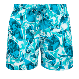 Men Classic Printed - Men swimtrunks Double Focus - Web Exclusive, Mint front