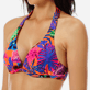 Women Underwire Printed - Women bikini Top with underwires Porto Rico, Bright orange supp1
