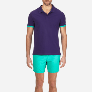 Men Others Solid - Men Cotton Pique Polo shirt Solid, Amethyst supp1