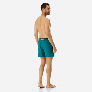 Men Ultra-light classique Solid - Men Ultra-Light and packable Swimwear Solid Bicolor, Pine wood backworn