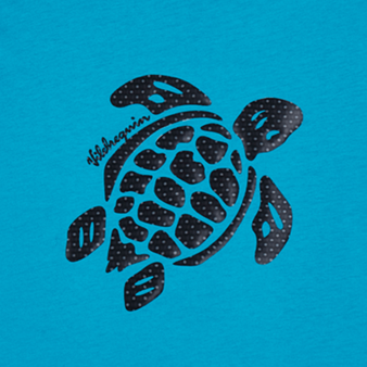 Boys Cotton T-Shirt Turtles 3D effect, Light azure pattern