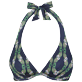 Women Underwire Printed - Women Halter Bikini Top Sweet Fishes, Navy front
