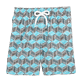 Boys Others Printed - Fishes Cube Swim Shorts, Azure front