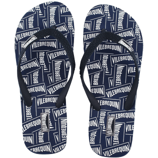 Men Others Solid - Men Flip Flops Vilebrequin Labels, Navy front