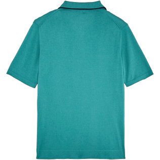Men Polos Solid - Short sleeve polo sweater, Peacock blue back