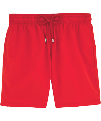 Men Classic Solid - Men Swim Trunks Solid, Poppy red front