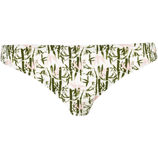 Women Bottoms Printed - Women High cut Bikini Bottom Bamboo Song, Peony front