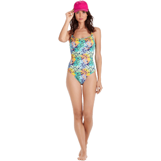 Women One piece Printed - Women Round neckline One piece Swimsuit Jungle, Midnight blue supp2
