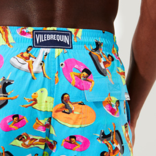 Men Stretch classic Printed - Men Swimwear - Vilebrequin x Derrick Adams, Swimming pool supp4