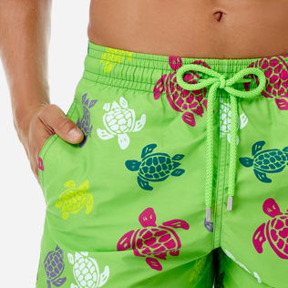 Men Classic Printed - Men swimtrunks Tortues Multicolores, Grass green supp1
