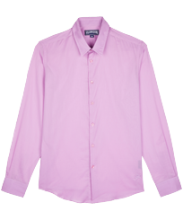 Others Solid - Unisex Cotton Voile Light Shirt Solid, Pink berries front