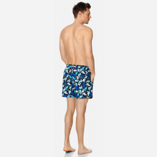 Men Classic Printed - Men Swimtrunks Baha Mar designed by John Cox - Limited Edition, Navy backworn