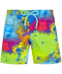 Jungen Andere Bedruckt - Boys Swimwear Stretch Holi Party, Batik blue front