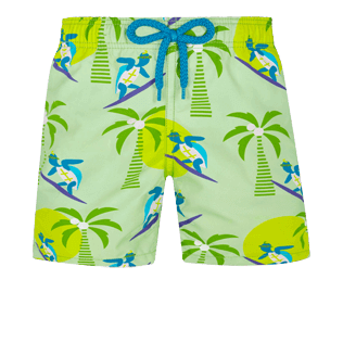 Boys Others Printed - Boys Swimwear Surfing Turtles, Aloe front