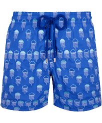 Men 017 Embroidered - Men Embroidered Swimwear Istanbul - Limited Edition, Sea blue front