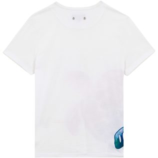Men Others Printed - Men Cotton T-Shirt Tortue Aquarelle, White back