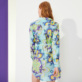 Women Others Printed - Women Cotton Shirt Dress Kaleidoscope, Lagoon backworn