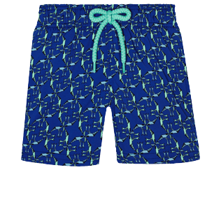 男童 Others 印制 - Boys Swimwear Stretch Nataraja, Batik blue front