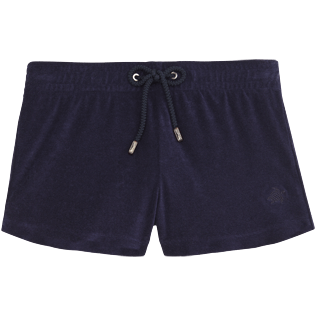 Women Others Solid - Women Terry Cloth Shortie Solid, Navy front