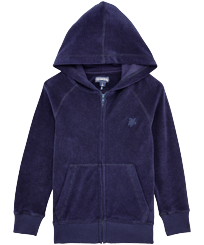 Boys Others Solid - Boys Terry Cloth Hoodie Solid, Navy front