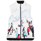Others Printed - Unisex Reversible Sleeveless Down jacket Massimo Vitali, Sky blue front