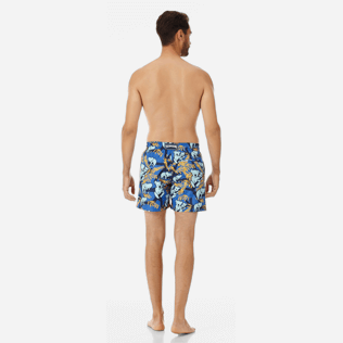 Men Ultra-light classique Printed - Men Ultra-Light and packable swimtrunks Sydney - Web Exclusive, Sea blue backworn