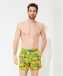 Men Classic Printed - Men Swim Trunks Go Bananas, Curry frontworn