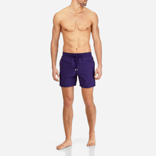 Men Classic Solid - Men Swimtrunks Solid, Amethyst frontworn