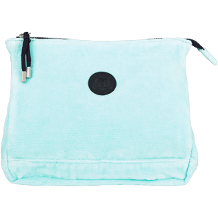 Others Solid - Zipped Beach pouch in Terry Cloth Solid Jacquard, Lagoon front
