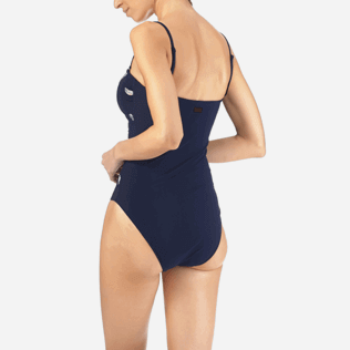 Women One Piece Embroidered - Blue Breath Embroidered One piece, Navy supp2