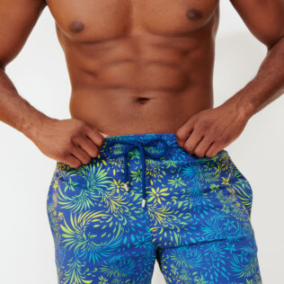 Hombre Clásico stretch Estampado - Men Stretch Swimwear Evening Birds, Batik azul supp3