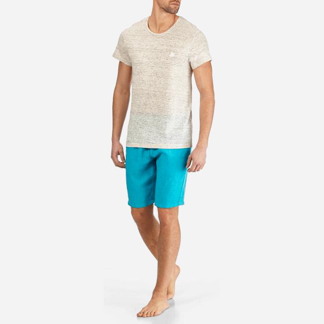 Vilebrequin - Camiseta de lino lisa para hombre - 3