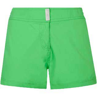 Women Others Solid - Women Stretch swim short Solid, Grass green front