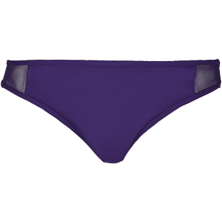 Women Classic brief Solid - Women midi brief bikini Bottom Solid Net, Reddish purple front