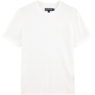 Men Tee-Shirts Printed - Cotton Piqué Solid Tee-Shirt, White front
