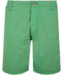 Men Others Solid - Men Chino Bermuda Shorts Ultra-light, Grass green front