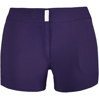 Women Shorties Solid - Women Stretch Swimwear fabric Shortie Solid, Amethyst front