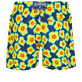 Men Ultra-light classique Printed - Men Swim Trunks Ultra-light and packable 1981 Flower Turtles, Sapphire back