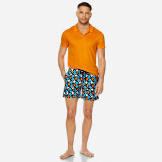 Men Classic Printed - Men Swim Trunks Turtles Stars, Navy supp2
