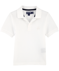 Boys Others Solid - Boys Cotton Pique Polo Shirt Solid, White front