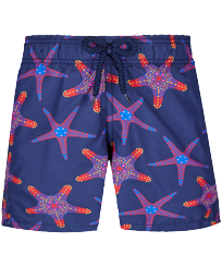 Boys Others Printed - Boys Swim Trunks Starfish Dance, Sapphire front