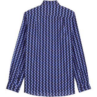 Others Printed - Unisex Cotton Voile Light Shirt Re Mi Fa Soles, Royal blue back