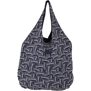 Others Embroidered - Oversize embroidered foldable bag Vilebrequin Labels, Navy front