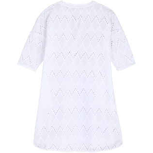 Women Others Embroidered - Women Cotton Beach Cover-up Broderies Anglaises, White back