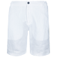 Men Others Solid - Men Linen Bermuda Shorts, White back