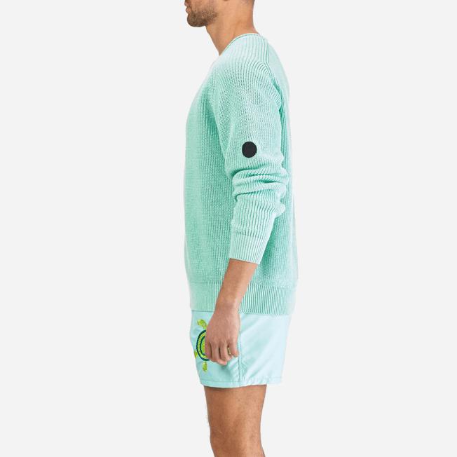 Vilebrequin - Men Cotton Linen Pullover Solid - 9