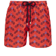 Men 017 Embroidered - Men Swimwear Embroidered - Limited Edition, Poppy red front