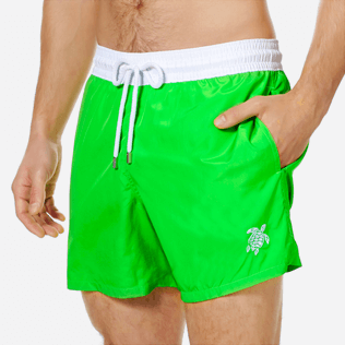 Men Ultra-light classique Solid - Men Swim Trunks Ultra-Light and Packable Solid Bicolore Fluo, Neon green supp1
